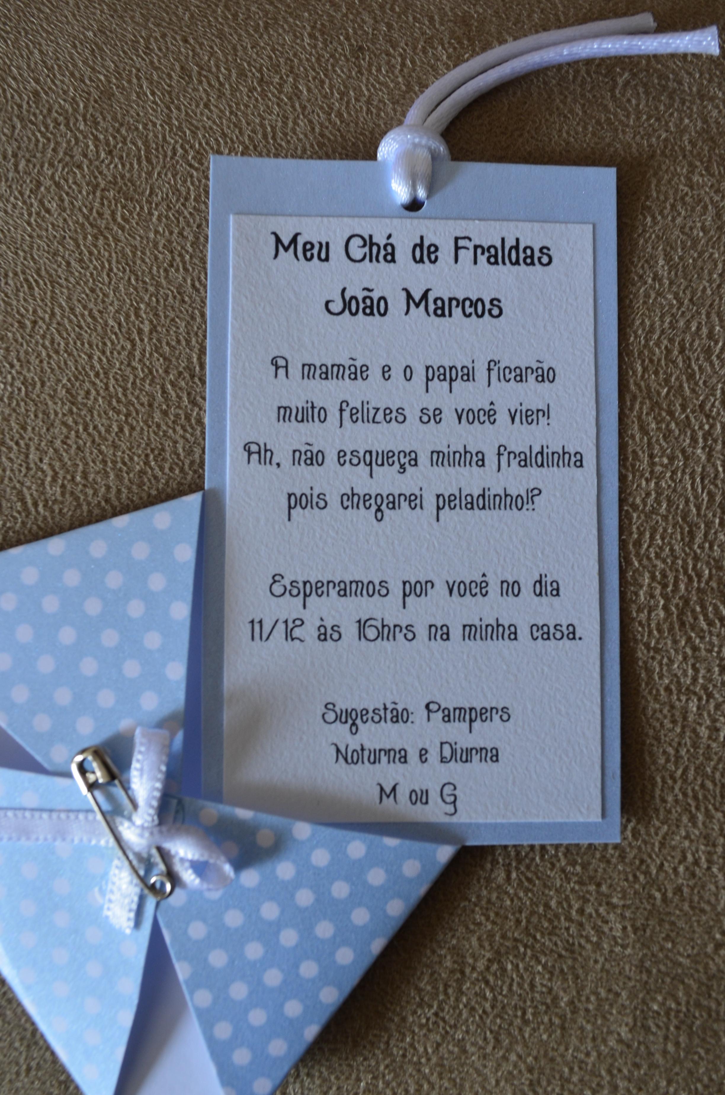 Muito Convite, Lembrança e Etiquetas de Chá de Fraldas | Talita Regina TR16