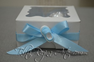 LN02 - Lembrança Maternidade Nascimento - Caixinha Branca - Gêmeos 1