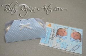 LN04 - Lembrança Maternidade Nascimento - Maletinha - Gemeos