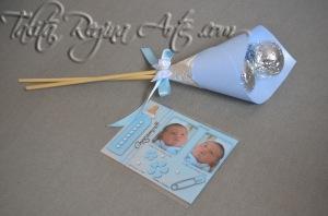 LN06 - Lembrança Maternidade Nascimento - Copo de Leite - Gemeos