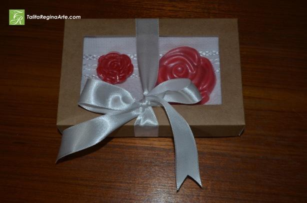 Kit 05 - Toalha de Lavabo Rosas Grande e Pequena