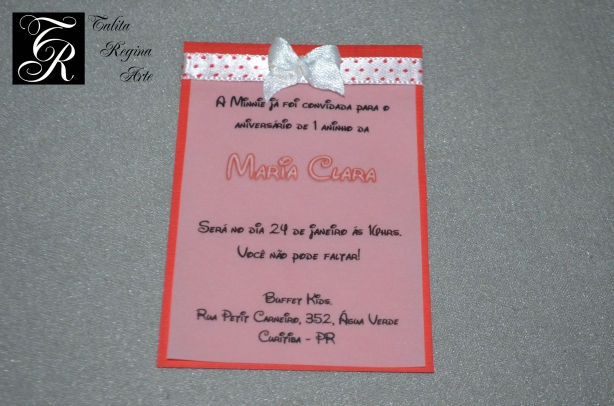 Convite Minnie Vermelha CAI02.a