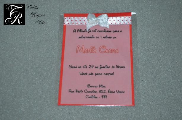 Convite Minnie Vermelha CAI02
