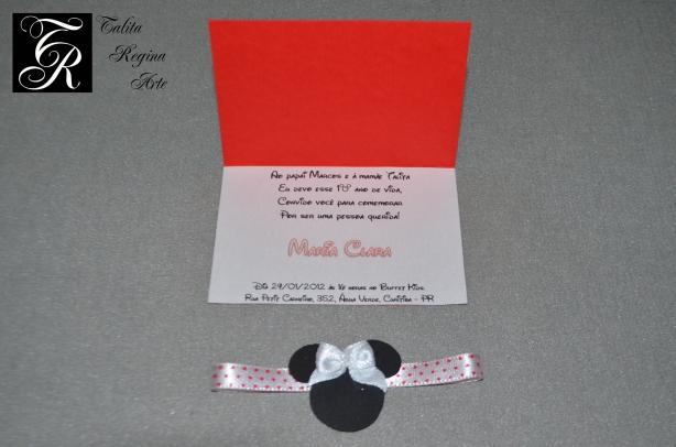 Convite Minnie Vermelha CAI03.c