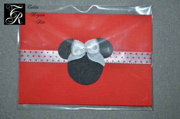 Convite Minnie Vermelha CAI03