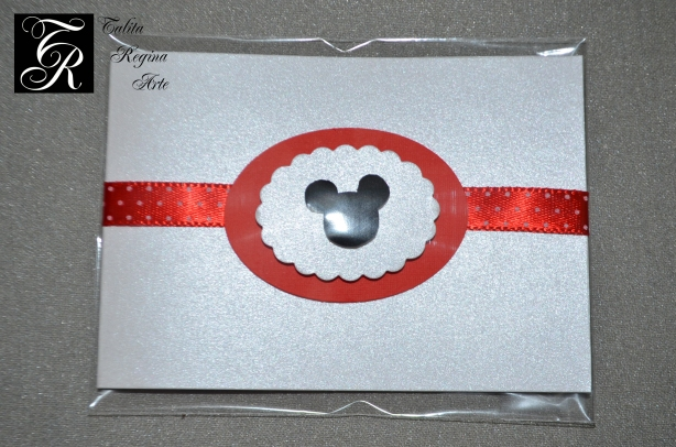 Convite Minnie Vermelha CAI04