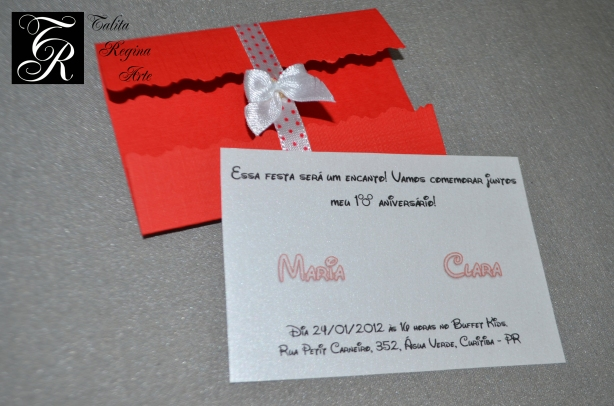 Convite Minnie Vermelha CAI05.c