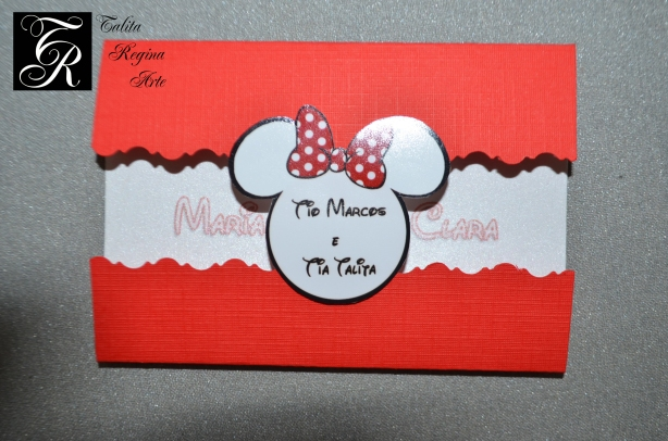 Convite Minnie Vermelha CAI06.a