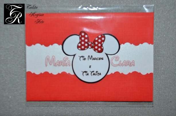 Convite Minnie Vermelha CAI06