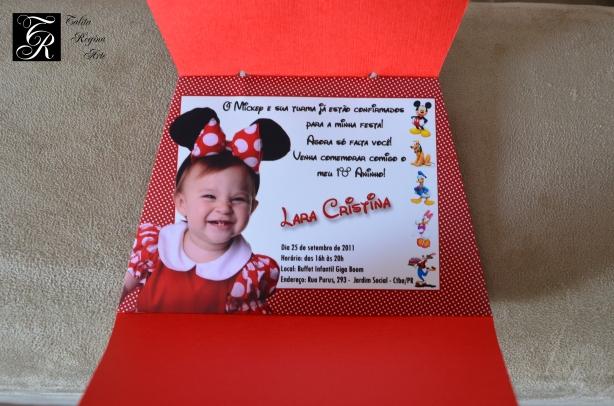 Convite Minnie Vermelha CAI12.a