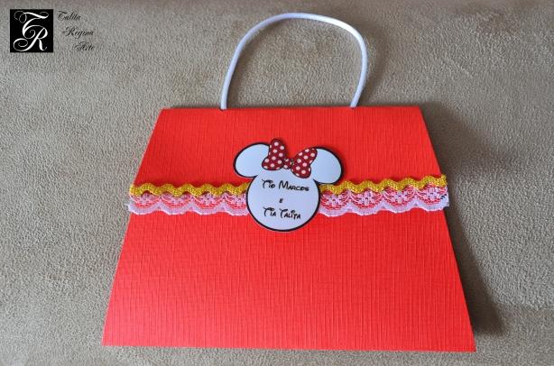 Convite Minnie Vermelha CAI12