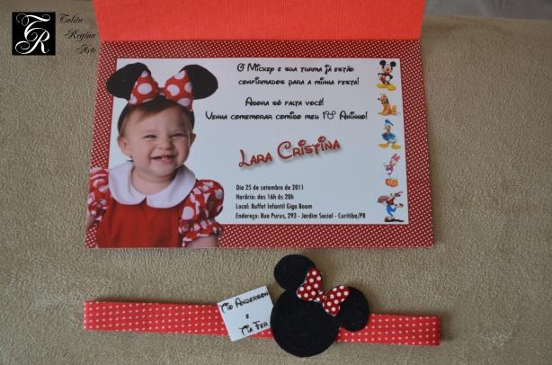 Convite Minnie Vermelha CAI13.a