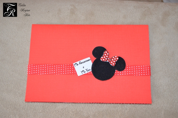 Convite Minnie Vermelha CAI13