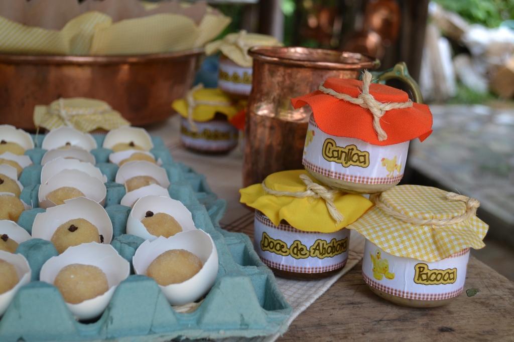 Doces Típicos - Canjica, Doce de Abóbora e Paçoca (amendoim com leite condensado)